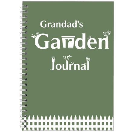 Personalised  A5 Notebook - Garden Journal
